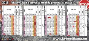Plánovací kalendář 2016 DL